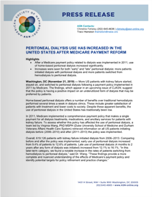 PERITONEAL DIALYSIS USE HAS INCREASED IN THE UNITED STATES AFTER MEDICARE PAYMENT REFORM